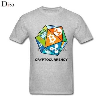 Bitcoin Peercoin Dash Litecoin Dice T Shirt Men