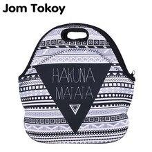 Jom Tokoy HakunaMatata Thermal Insulated 3d print Lunch Bags for Women Kids Bag Box Food Picnic Tote Handbags