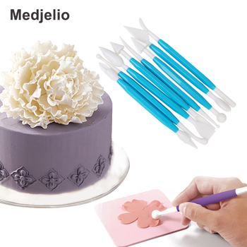 Cake Decoration Tools Cream Print  Engraving Carving Carved Pen Knife Sugar Flower Sculpture Mold Kitchen Baking Accessories Скульптура