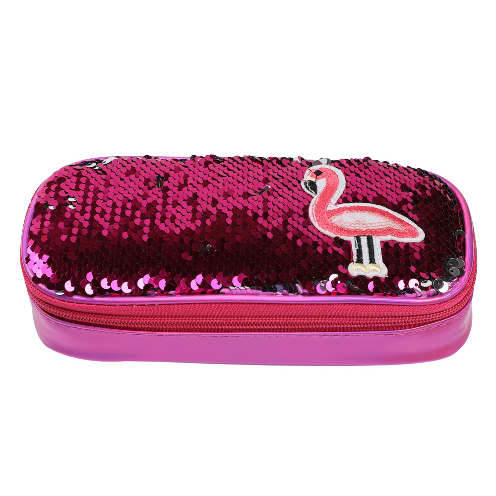 TOPSTHINK Gils Sequins pencil pouch cute flamingo unicorn sweet multi-layer pencil case wholesaleTOPSTHINK Gils Sequins pencil pouch cute flamingo unicorn sweet multi-layer pencil case wholesale