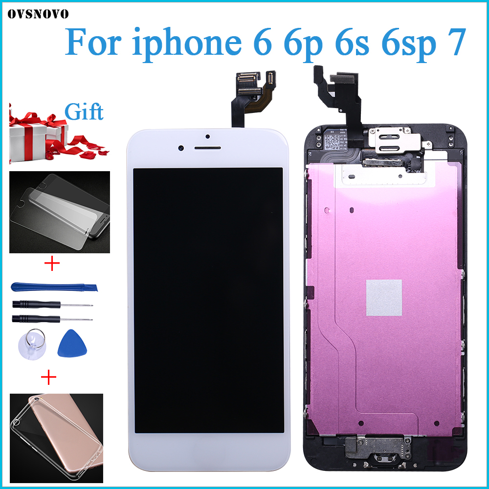 AAA Quality 100% Good Working Replacement For IPhone 6 S Plus 7G LCD Digitizer Touch Screen Completed Assembly With Parts+Gifts
