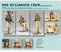 Смола комплекты 1/35 смола комплекты D9R бульдозер экипаж ( морской пехоты сша ирак 2004 ) смолы солдаты бесплатная доставка 3 цифры указан