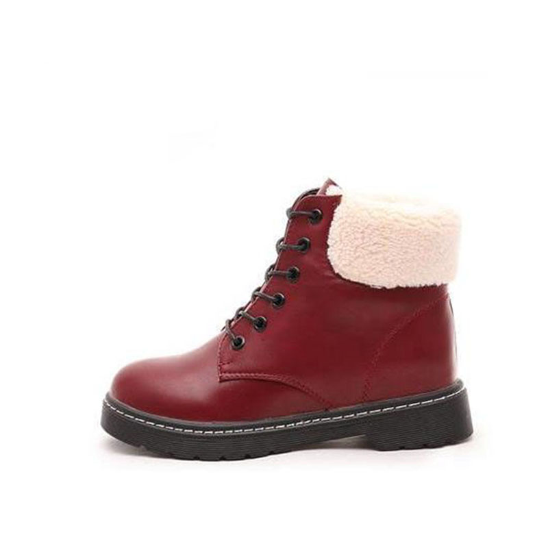 Flat with a female student winter boots with short boots frosted short canister boots, warm cotton shoes objective ielts advanced student s book with cd rom