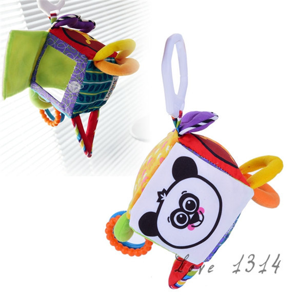 747d89ab2795b US $4.39  Mirror Toys Multifunctional Cloth Blocks Educational Cube Peek a  boo Hang Bell Baby Rattle Mobile music Toy Gift Baby SV010792-in Baby ...