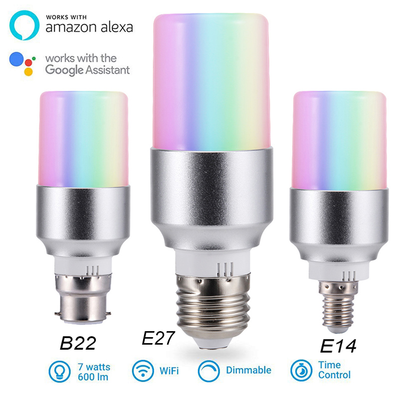 Consumer Electronics Wifi Smart Light Bulbs Remote Control Wifi Smart Led Light Bulb Dimmable Rgb Lamp For Alexa Google Home E27 E14 B22 Fixing Prices According To Quality Of Products