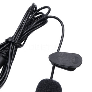 Image 2 - kebidu Portable External 3.5mm Hands Free Mini Wired Collar Clip Lapel Lavalier Microphone For PC Laptop Lound Speaker