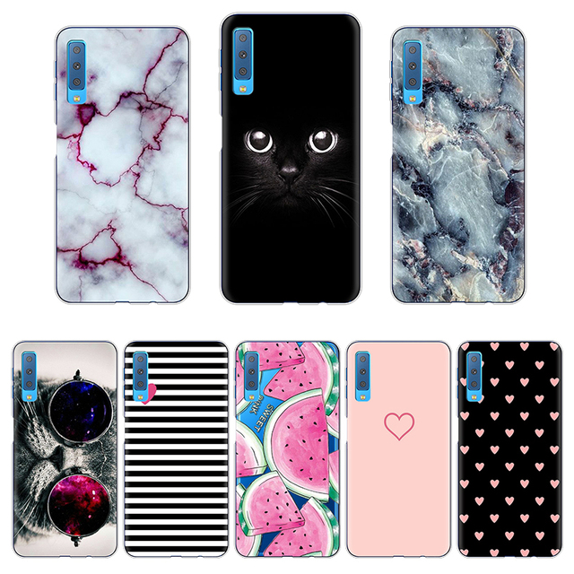 sports shoes adbb4 25f38 US $1.18 13% OFF|Cartoon Phone Cases For Samsung Galaxy A7 2018 Case  Silicon 6.0
