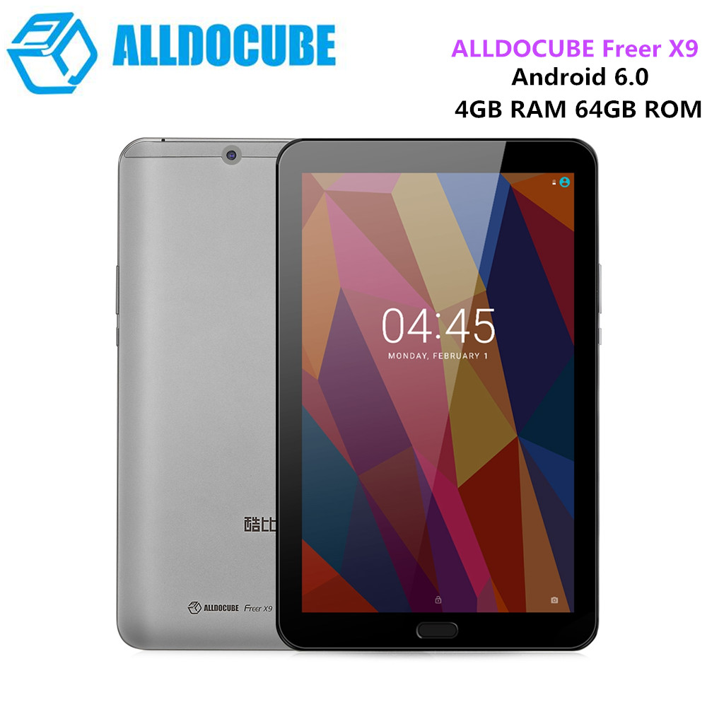 Alldocube свободнее X9 планшетный ПК Android 6,0 8,9 ''MTK8173 4 ядра 2,0 ГГц 4 ГБ 64 ГБ Двойной Wi Fi OTG 13.0MP сзади Камера планшет Tab Pad