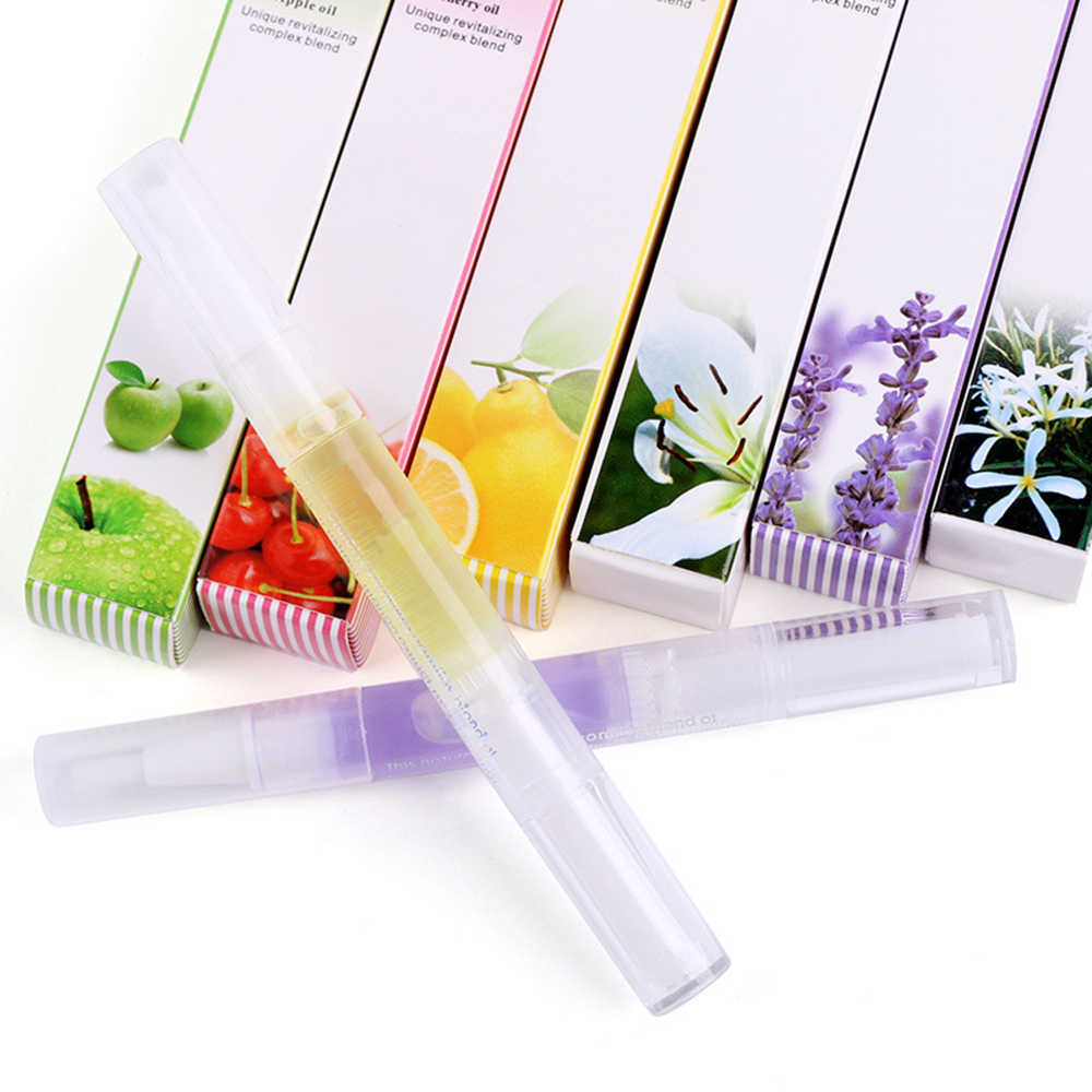 15 Fruit Flavor 5 Ml Finger Nourishing Liquid Nail Care Solution Moisturizing Nail Repair Nutrition Pen Armor Oil Polish TSLM1