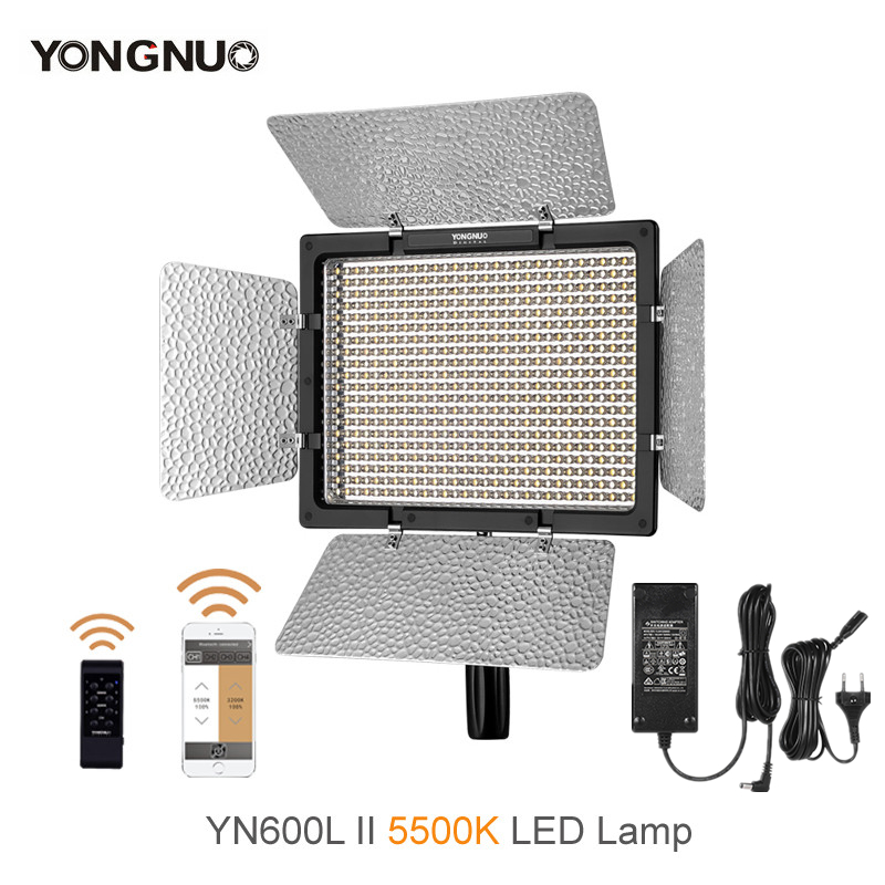 YONGNUO YN600L II 5500K YN600 II 600 Pro LED Video Studio Light For Canon Nikon Cameras Camcorders + Remote ControllerYONGNUO YN600L II 5500K YN600 II 600 Pro LED Video Studio Light For Canon Nikon Cameras Camcorders + Remote Controller