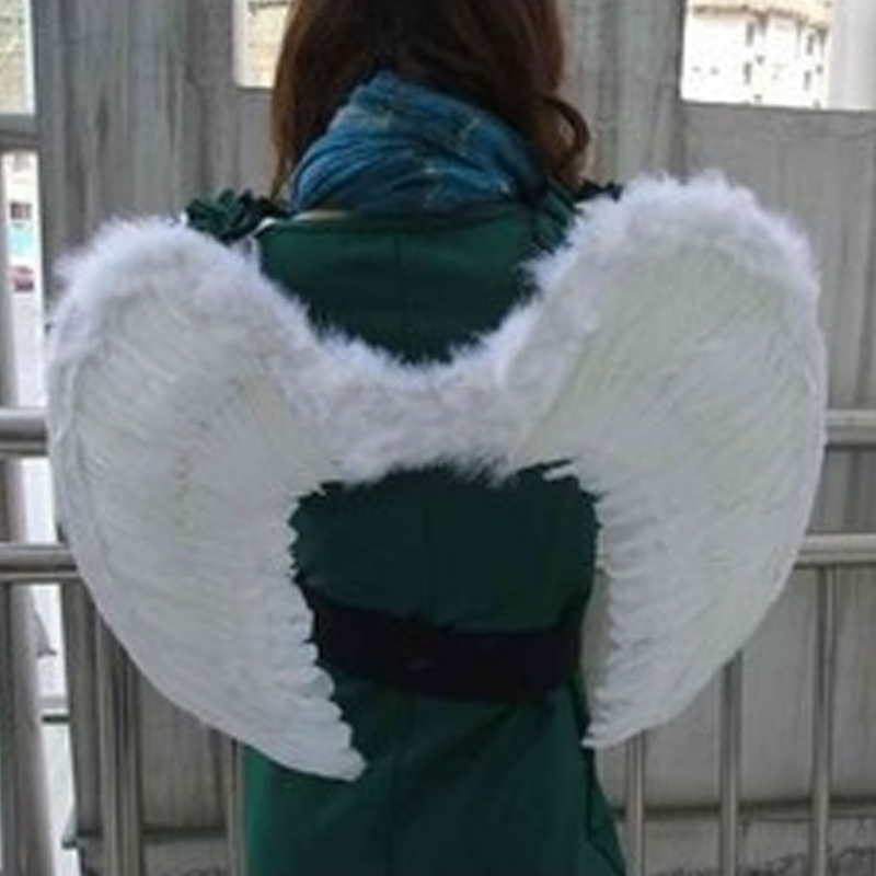 Cute Kids Baby White Angel Wings Feather for Party Decoration And for Photo