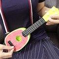 Moderno crianças aprender instrumentos musicais de guitarra ukulele mini fruta pode play toys for kids crianças transporte da gota feb10
