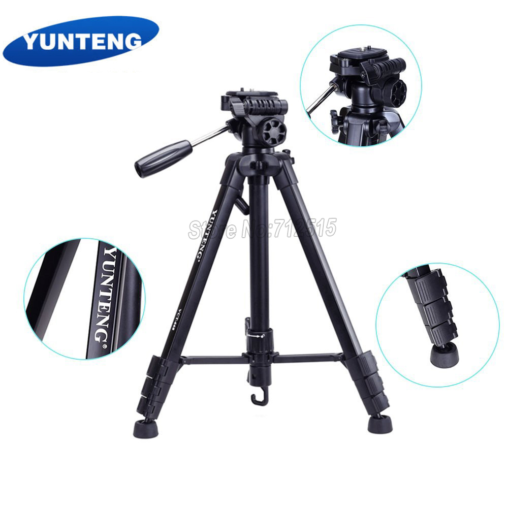 YUNTENG New VCT-668 Professional Flexible Tripod for SLR Digital Camera with Ball Head Carrying Bag