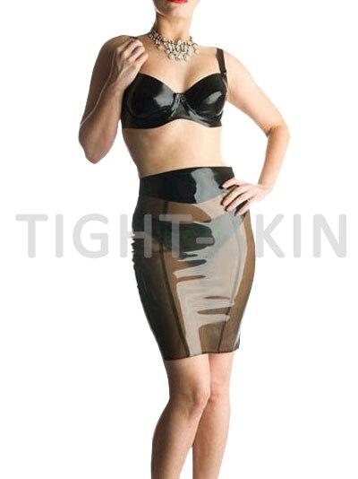 4ec7caa97222ef Jupe en latex noir Transparent jupe longue caoutchouc offre spéciale sur  mesure sans soutien gorge