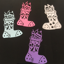 boots Embossing paper card metal steel cutting dies for scrapbooking stencils album Christmas boots decor craft knife mould onkyo e200btb