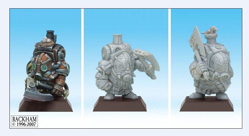 28106   RackHam Fantasy Series Dwarf Infantry Squad (3 People)