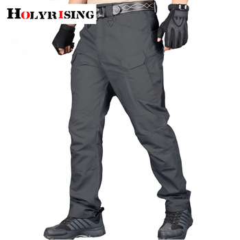 Holyrising men Tactical pants Multiple Pocket Elasticity Military Urban Commuter Tacitcal Trousers Men Cargo Pant 118846-5 1