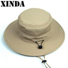906747d0c1c Red Blue Gray New Waterproof Long Wide Brim Bucket Hat Men Women Hat Summer  UV Protection