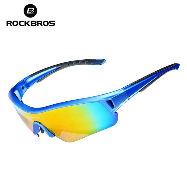 ROCKBROS Polarized Cycling Eyewear Sports Sun Glasses UV 400 Men & Women Bicycle Bike Sunglasses Myopia Frame Ciclismo 3 Lenses