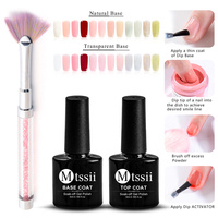 Mtssii 10ml Dipping System Powder Gradient French Nail Color Glitter Without Lamp Cure Manicure Nail Art Decorations