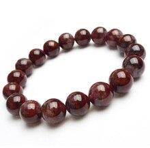 цена Genuine Natural Canada Auralite 23 Red Purple Round Beads Bracelet 11mm Crystal Women Men Stone Rarest Bracelet Jewelry AAAAA онлайн в 2017 году