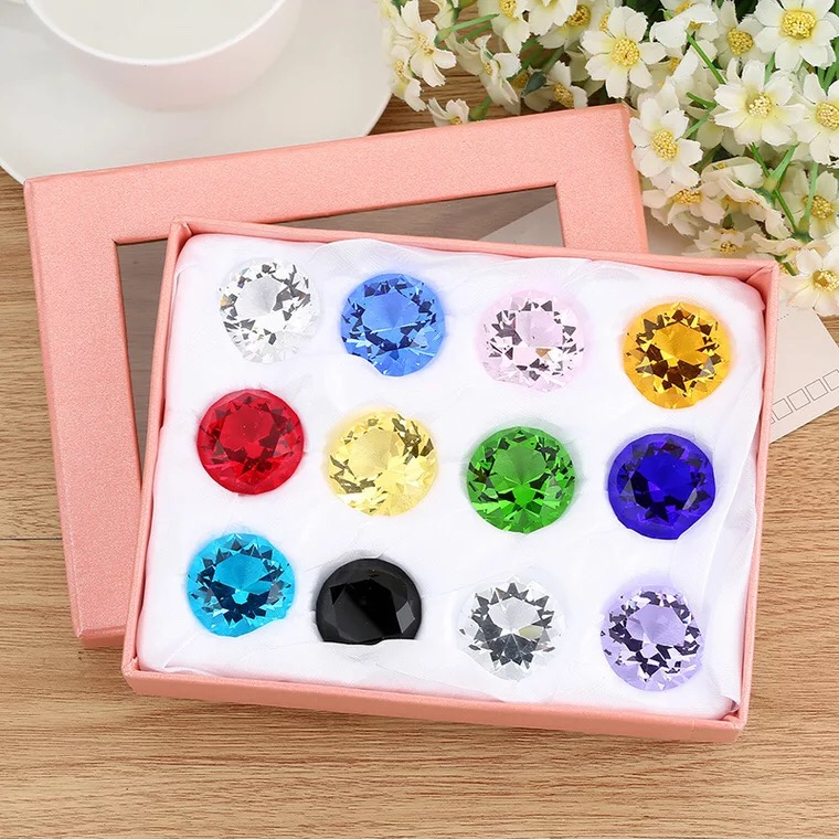 30mm Crystal Glass Diamond Paperweight 12PCS/SET Feng Shui Confetti Wedding Bridal Party Decoration Vase Filler Crystal Diamond-in Figurines & Miniatures from Home & Garden on AliExpress - 11.11_Double 11_Singles' Day 1
