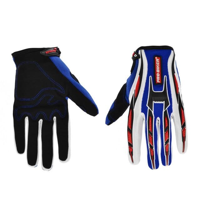 BJMOTO New Summer Winter Full Finger Motorcycle Gloves Gants Moto Luvas Motocross Lycra Motorbike Guantes Moto Racing Gloves