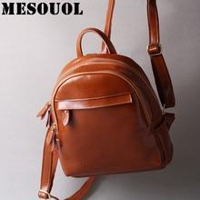 Mesoul модный бренд Оли воск кожаный рюкзак модные женские туристические рюкзаки женщина спилка небольшой дизайнер школьные сумки