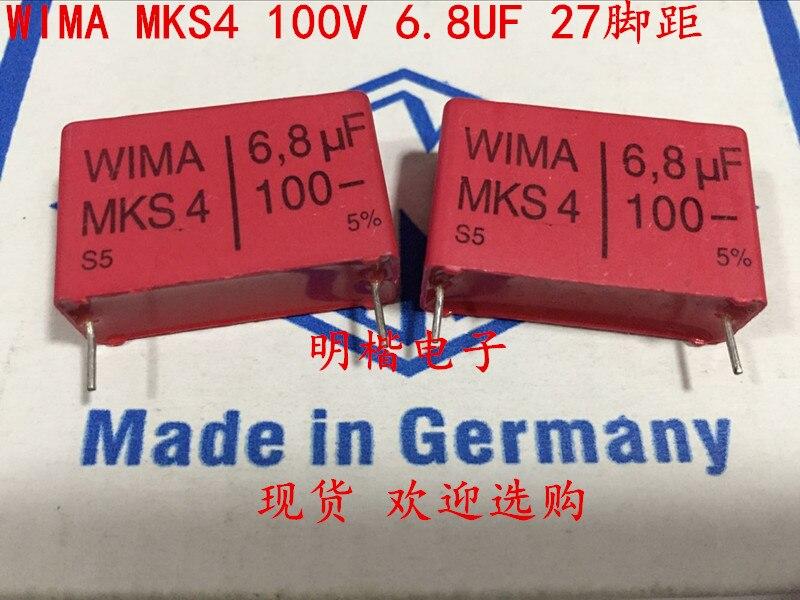 Wima metallisierter poliéster-condensador mks4 100v 6,8uf 27,5mm 089848