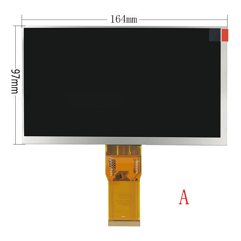 New 7 Inch Replacement LCD Display Screen For Bravis NP 725 3G 1024*600 tablet PC Free shipping new 8 inch replacement lcd display screen for digma idsd8 3g tablet pc free shipping