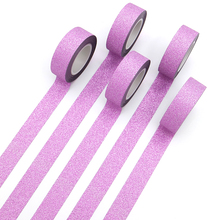 Paper-Tape Glitter Hand-Account Pink Flash-Stickers Album-Decoration Adhesive Creative