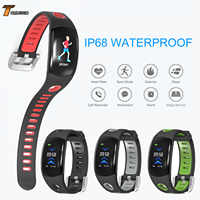 IP68 Waterproof Smart Bracelet LCD Remote Camera Heart Rate Monitor Sleep Activity Fitness Tracker TDM11 Smart Watch Band