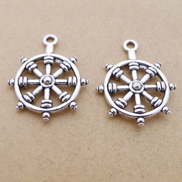 Bulk 30 eco friendly alloy tibetan silver plated ship wheel charms bulk 30 eco friendly alloy tibetan silver plated ship wheel charms nautical pendants 22 aloadofball Gallery