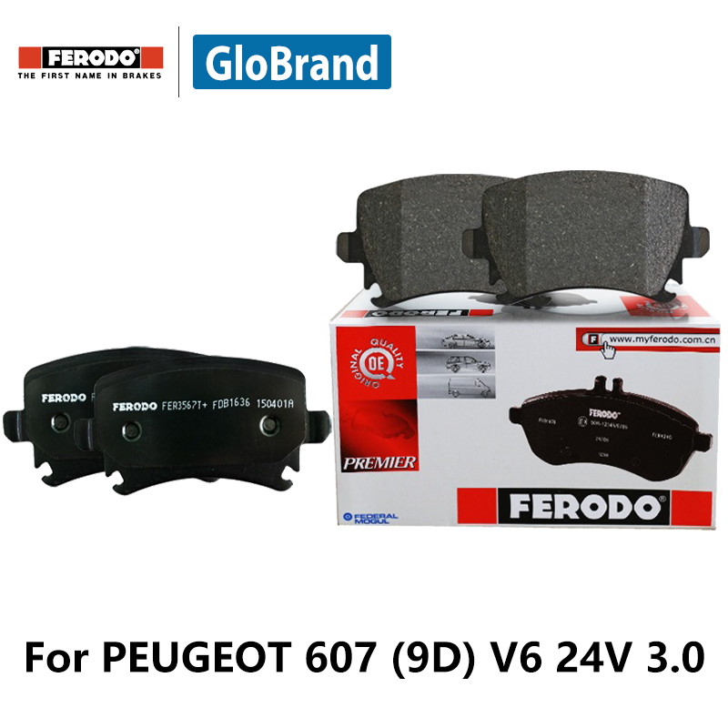 4pcs/lot Ferodo Front Car Brake Pads For PEUGEOT 607 (9D) V6 24V 3.0 FDB1545 2pcs lot ferodo car front brake disc for volkswagen polo 1 4 1 6 lavida bora golf 4 ddf929 d