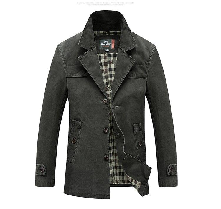 HTB1J6NhU4YaK1RjSZFnq6y80pXaJ Men's Spring Autumn Business Casual Long Cotton Trench Coat Jacket Men Winter Brand Classic Iconic Trench Breasted Overcoat Men