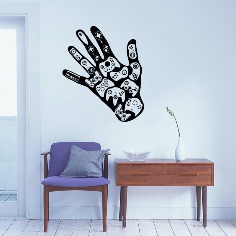 Spiel Fernbedienung Hand Spielen Controller DIY Kunst Wandtattoo Jungen Wohnzimmer Schlafzimmer Haus Dekoration Lustige