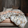 Juego de ropa de cama con estampado de plantas tropicales de algodón de 2019 egyptia para adultos 4 piezas King Queen tamaño edredón juego de sábanas fundas de almohada