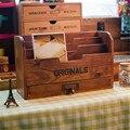 Винтажные настольные деревянные украшения для полки  контейнер для хранения  косметический чехол  ювелирные изделия  сундуки  держатель дл...