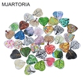 MJARTORIA 10PCs Handmade Glass Cabochon 20mm Heart Shape Image Cabochon Dome Embellishments Accessories for DIY Jewelry  Making