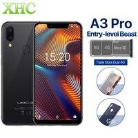 UMIDIGI A3 Pro Global 5.7 FullScreen Face Unlock Smartphone 3GB+32GB MT6739 Quad Core Android 8.1 12MP+5MP Dual 4G Mobile Phone
