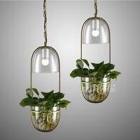 Nordic Modern Home Decor Plant Lamp Chandeliers Ceiling Light Droplight Pendant Bedroom Reading Corridor Gift Cafe