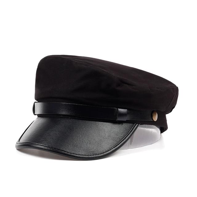 VORON unisex black flat navy hat cap women men fashion berets hot sale  street style beret caps brand hats Newspaper Cap 16a6d337b35