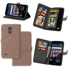 Retro Matte Leather Case For LG Stylus 3 Stylus3 LS777 Filp Cover PU Leather Wallet Stand 9 Card Holders Photo Frame Phone Cases