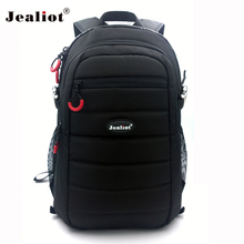 2017 Jealiot Multifunctional Professional Camera Bag laptop Backpack waterproof shockproof digital Photo case for DSLR Canon