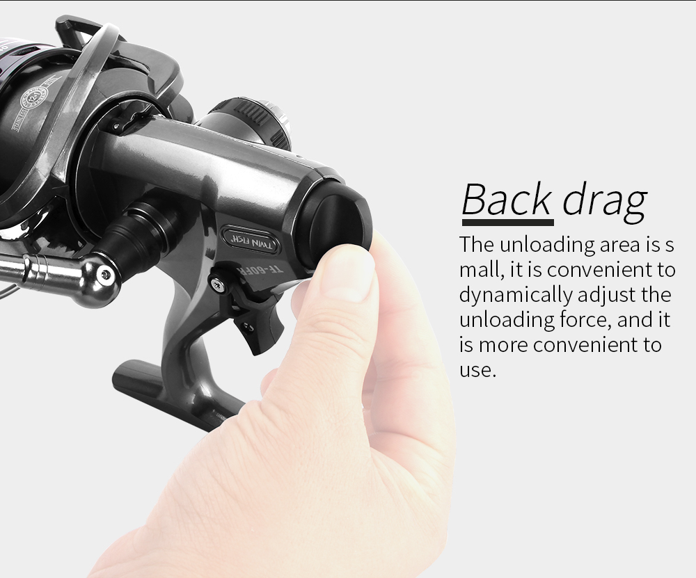 RoseWood 2 Speed 6.31 4.31 Front And Real Dual Braking Spinning Reel 12+1 S.S Bearings Carp Fishing Reels + Spare Spool  (8)