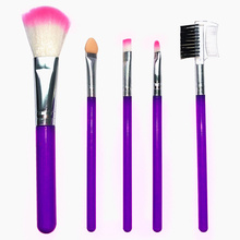 5 Pcs/Lot Makeup Brush Set Professional Blush&Foundation Eye Shadow Blending Eyebrow Brushes for Cosmetic Kit