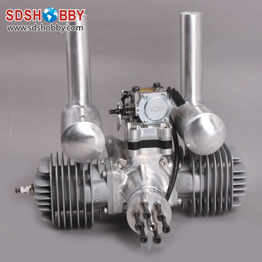 DLA116 CNC Processed Gasoline Engine Petrol Engine 116CC for Gas Airplanes with Double Cylinders