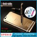24kt oro cubierta para iphone 6 zg edición limitada espejo medio marco de la contraportada de reemplazo de vivienda para iphone 6 zg 4.7 pulgadas