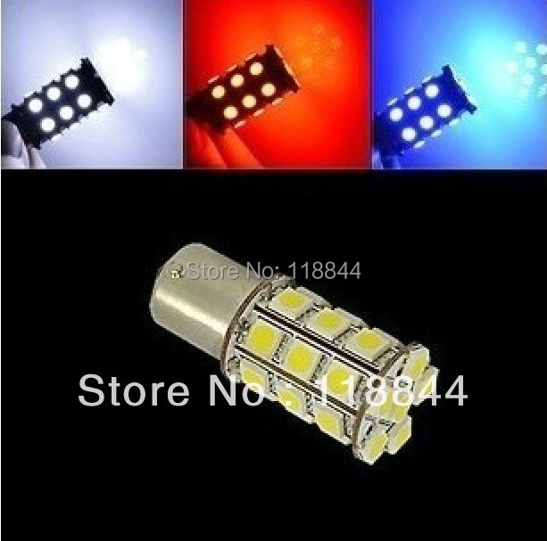 2 Pcs 1157/Bay15d 2-pins 5050 <font><b>18</b></font> <font><b>SMD</b></font> <font><b>LED</b></font> Car Brake Stop Lamp Light Bulb White Bule Red Yellow Free Shipping image