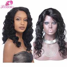 full lace wig brazilian customized for black women lace frontal natural hairline Grade 7a 100% human hair hot sale body wave
